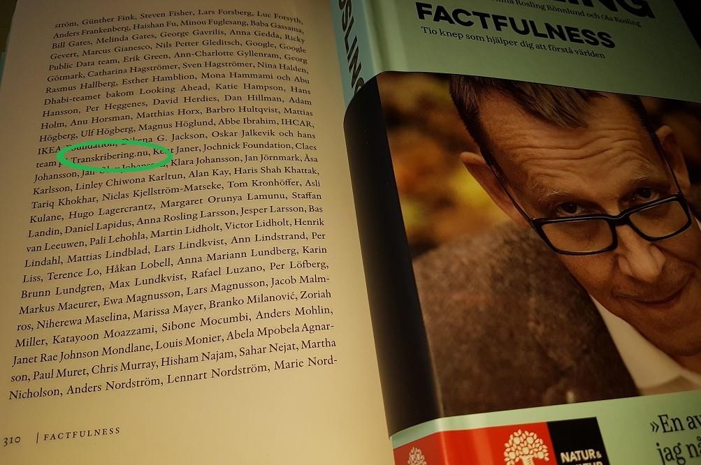 Hans Rosling och Transkribering.nu